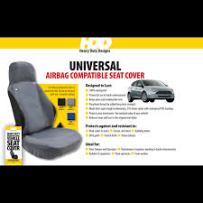 hdd air bag compatible universal fit front seat cover black 211 heavy duty designs free delivery