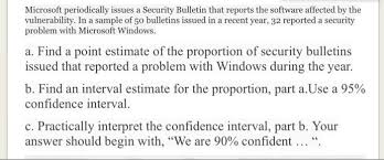 Solved Microsoft Periodically Issues A Security Bulletin