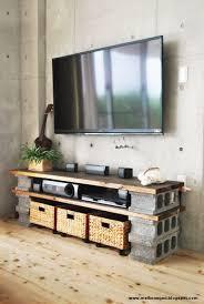 concrete block furniture. diy a cinder block tv cabinet concrete furniture r