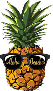 pineapple with sunglasses clipart. pineapple sunglasses aloha beaches hawaii - hawaiian summer t-shirt by filik with clipart s