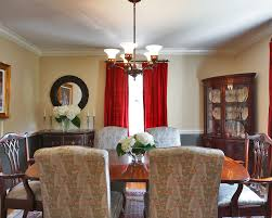 chandelier size for dining room. Dining Room. Beautiful Image Of Room Decoration Using Red Curtain Including Cream Chandelier Size For