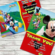 Mickey Mouse Clubhouse 2nd Birthday Invitations Ideas Create Your Best Party Planning With Mickey Mouse