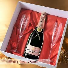 name gifts put the moet et シャンドンブリュット pink 750 ml crystal chagne gl 2 point set