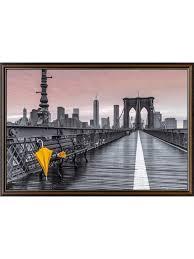 ny brooklyn bridge umbrella poster