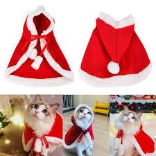 <b>Pet Dog Cat Christmas</b> Santa Hat <b>Cloak Cape</b> Puppy Velvet <b>Xmas</b> ...