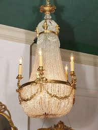 antique french empire chandelier crystal and bronze in good condition for in new
