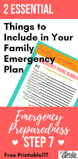 2 Essential Things To Include In Your Family Emergency Plan