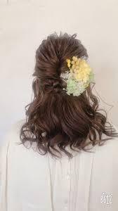 結婚式の花嫁ヘアどんな髪型にするミディアムロング編 Hair