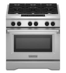 kitchenaid 36 inch 6 burner dual fuel freestanding range commercial style