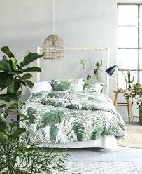tropical bohemian bedroom inspiration plant bed sheets fiber linens and lace
