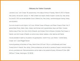 Example Of Obituary Format Good Examples Template Monster Affiliate ...