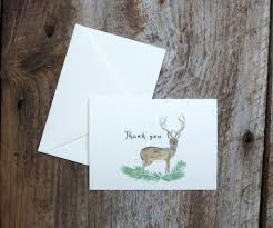 Highland Evergreen Wedding Thank You Notes – El's Cards