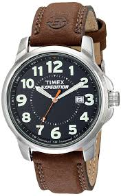 amazon com timex men s t44921 expedition metal field brown amazon com timex men s t44921 expedition metal field brown leather strap watch timex watches