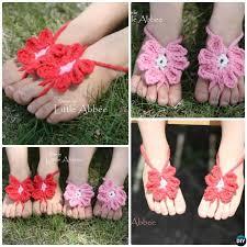 crochet toe flower sandals free pattern