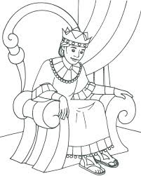 David And Goliath Coloring Pages A Cartoon Figure Of Little And