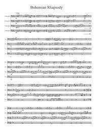 Download and print in pdf or midi free sheet music for bohemian rhapsody by queen arranged by antonio_mascarenhas for piano, trumpet (in b flat), violin, flute & more instruments (orchestras) Cello Quartet Sheet Music Free