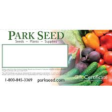 park seed email gift certificate
