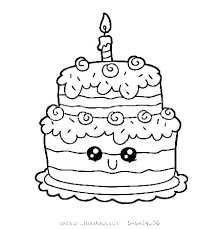 Free Coloring Pages Birthday Cake Book Page Of Boy Sheets Cakes Kids