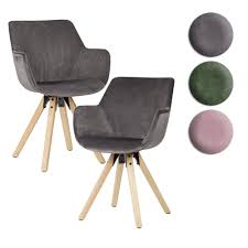 Finebuy Esszimmerstuhl 2er Set Schalenstuhl Küchenstuhl Samt Stuhl Modern Stoff