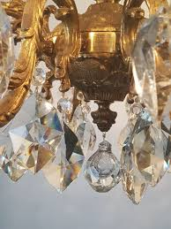 c1900 gilded brass crystal 10 arm chandelier rewired 529731 ingantiques co uk