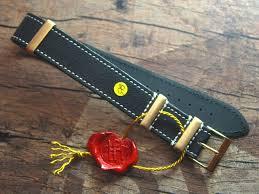 20 mm nato tropic custom leather strap no 579