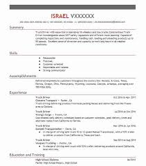 Resume Truck Driver Position Best Truck Driver Resume Example Livecareer