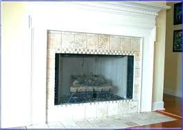 subway tile fireplace contemporary surround ideas marble glass around full size