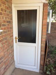 external upvc double glazed door with frosted glass quick