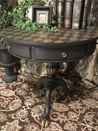 craigslist kitchen cabinets iowa new accent table painted in annie sloan chalk paint color graphite with