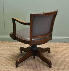 Solid Oak Swivel Desk Chair