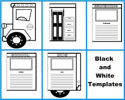 Book Report Templates Middle School School Bus Book Report Project Templates Worksheets Grading