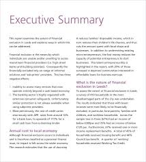 Simple Business Report Template Awesome Executive Summary Format