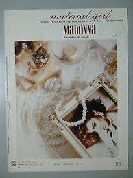 Material Girl Sheet Music 1985 Madonna Pop 2 Hit Ebay