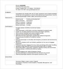 Livecareer Co Uk Sample Hostess Resume 6 Download In Word