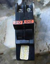 federal pacific electrical circuit breakers fuse boxes 20 amp federal pacific fpe type nc double pole 1 thin breaker