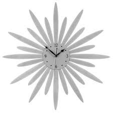 silver sunburst wall clock