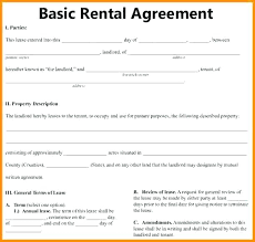 Printable Rental Agreement Template Free Simple Residential Lease ...