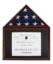 3x5 flag display case. Delighful Flag Solid Cherry Flag Display Case W Certificate Holder 3x5 Flag Dark Stain W In D