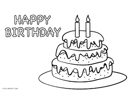 Birthday Cake Coloring Page With Free Coloring Pages Of T Cake Blank