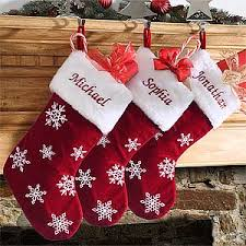 Red Velvet Personalized Snowflake Christmas Stockings - Christmas ...