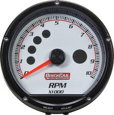 quickcar racing products race car parts performance gauges 63 001 gauge tachometer redline 0 10 000 rpm 3
