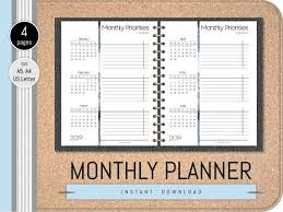 Calendar Year Quarters 2019 Printable Monthly Planner Pages Year Overview