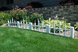 image of white garden border fence