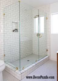 Tile Bathroom Shower Design With exemplary Top Shower Tile Ideas And Designs  To Unique