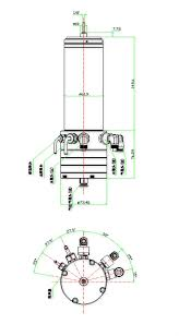 cnc spindle diagram. 0.85kw kl-200l high speed air bearing spindle water / oil cooled cnc drilling pcb motor cnc diagram