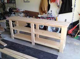 Sofa Table Diy Diy Rustic Sofa Table