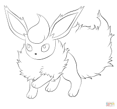 Small Picture Flareon coloring page Free Printable Coloring Pages