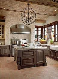 tuscan kitchen lighting. kitchen timeless tuscan with brick ceiling and white walls island lighting t