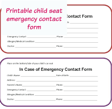 Employee Emergency Contact Form Template Australia For Child On