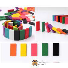 Đồ chơi trẻ em Domino - Đồ chơi xếp hình sáng tạo trẻ em an toàn bền nhẵn,  Trò chơi 100 thanh giá cạnh tranh